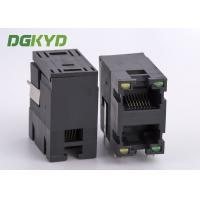 Wholesale Unshielded 2x1 stack double port RJ45 Connector without transformer ethernet socket from china suppliers