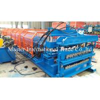 Wholesale Full Automatic Double Glazed Tile Roll Forming Machine With Wave Pressing from china suppliers