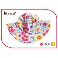 Wholesale Cotton Flower  Printed Bucket Hat With Circle Lining  for girls from china suppliers