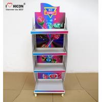 Buy cheap Freestanding Candy Merchandising Metal Retail Display Stands With Powder Coating from wholesalers