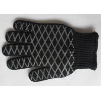 Wholesale Black Insulated Grilling Mitts Heat Resistant BBQ Gloves For Kitchen from china suppliers