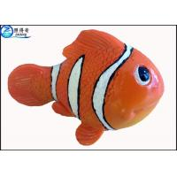 Wholesale Small Orange Resin Artificial Fish for Aquarium Decoration / Custom Fake Fish Ornaments from china suppliers