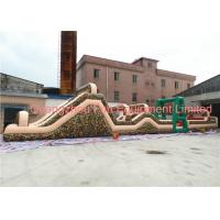 Wholesale Giant Camouflage Inflatable Obstacle Course , Boot Camp Obstacle Course For Kids 24*3.5m from china suppliers