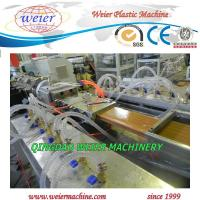 Quality WPC Decking Edge Cover / WPC Extrusion Line With Double Outlet Making for sale