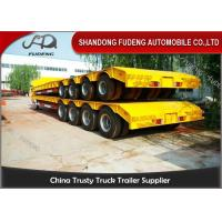 Wholesale 150 - 200 Ton Heavy Duty Lowboy TrailerFor Construction Machines 4 Lines 8 Axles from china suppliers