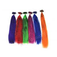 Wholesale Striped Mixed Colored Real Plume Feather Hair Extensions for Women from china suppliers