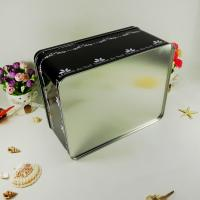 Quality Black Metal Tin Container With Silver Bottom Tranparent Window for sale