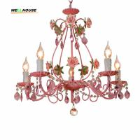 Wholesale Modern crystal chandelier K9 crystal 110~240V lustres de cristal chandelier for living room Kitchen light from china suppliers