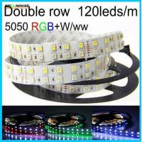 Wholesale Led Strip Light RGBW Double Row DC12V/24V SMD5050 Flexible Lights RGB+white/warm white no-waterproof 5M 120leds/m from china suppliers