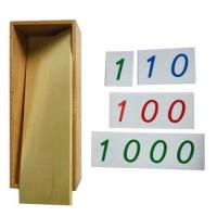 Wholesale Montessori Materials - Large PVC Number Cards With Box (1-9000)    5.5*7cm from china suppliers