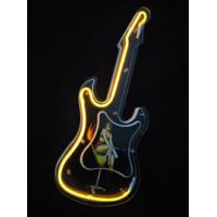 Wholesale Unique Custom 9V DC 300mA Mechanical Neon Guitar Clock 12 Inch from china suppliers