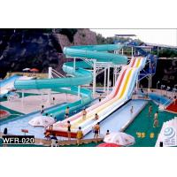 Wholesale SGS Approval Huge Theme Park Adult Water Slides In Water Parks , Blue from china suppliers