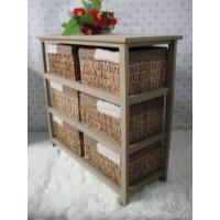 Wholesale Living Room Furniture Home Organizer Straw Basket Cabinet Sideboard from china suppliers