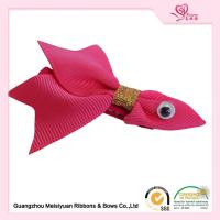 Wholesale Custom Baby Hair Accessories Grosgrain Ribobn Goldfish Hair Clips For Infant from china suppliers