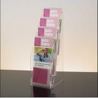 Wholesale Clear Acrylic 4 Tier 4 Pocket Brochure Display Holder Literarure Holder from china suppliers