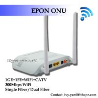 Wholesale FTTH GEPON CATV 1GE 1FE WIFI CATV ONU EPON 2LAN CATV WFI ONU EPON RF from china suppliers