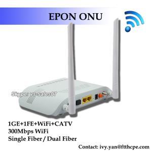 Wholesale FTTH GEPON CATV 1GE 1FE WIFI CATV ONU EPON 2LAN CATV WFI ONU EPON RF from china suppliers