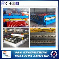 Wholesale 20m / Min Red Panel Double Layer Roll Forming Machine 45#Steel Material from china suppliers