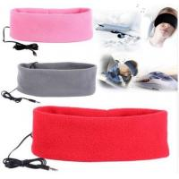 Buy cheap Headband with headphone 3.5mm Anti-snore Wired Comfortable Thin Sweatband Stereo Sports Sleep Headphone from wholesalers