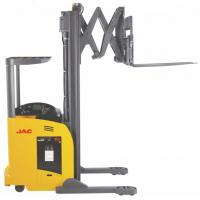 Wholesale 1.8 Ton Reach Truck Forklift Forward Double Scissor 36V Electric Control High Efficiency from china suppliers