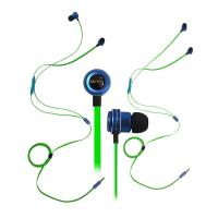 Xibter Noodles Green Cable Gamer Game Earphone Deep Bass Stereo 3.5mm In Ear Earbud Headphone With Microphone Remote
