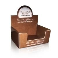 Wholesale Chocolate / Foldable Cardboard Countertop Display Boxes UV Coating from china suppliers