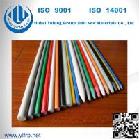 Quality Solid Round Pultrusion High Strength Light Weight FRP Fiberglass Strip for sale