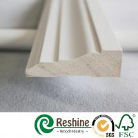 Primed finger joint wood pine flooring baseboard door casing ceiling crown moulding