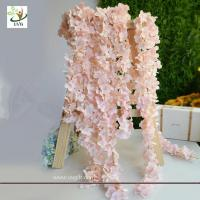 Wholesale UVG 2m long romantic classic silk flowers artificial wisteria garland for wedding decor from china suppliers