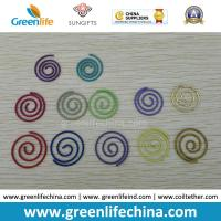 Wholesale Colorful Round Spiral Shape Fashionable Paper Clips Round Cord and Flat Cord Both Available from china suppliers