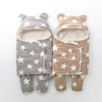 Wholesale Muslin Fabric Cotton Warped Knitting Newborn Swaddle Blanket 44×44 Inches from china suppliers