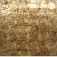 Wholesale Natural Sea shell Wall Covering Golden Capiz Shell Decorating Wall Panel for interior wall from china suppliers