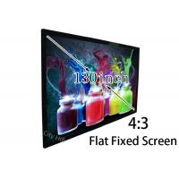 "Wholesale 130"" High Resolution 1981 x 2641mm Flat Projector Screen For 3D 4K Cinema from china suppliers"