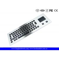 Wholesale Customized Layout Panel Mount Keyboard Metal with Touchpad Mouse / Vandal proof Keyboard from china suppliers