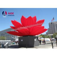 Wholesale Outdoor large Inflatable Event Decoration Display Use Inflatable Red Lotus Flower from china suppliers