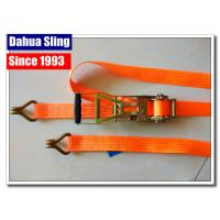 Rubber Handle 2 Inch Ratchet Straps With Flat Hooks Mini Tie Down Straps