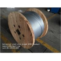 Quality Zinc Coating Steel Wire Cable 7/3.05mm 7/3.45mm With Scratch And Corrosion Resistant Coating for sale