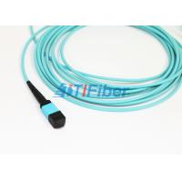 Quality OM4 MPO UPC Fiber Optic Patch Cord , 4 8 12 24 Core Cable in Multimode for sale