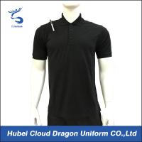 Quality 200 Gsm Short Sleeve Security Guard T Shirts Pique Black Work Shirt Breathable for sale