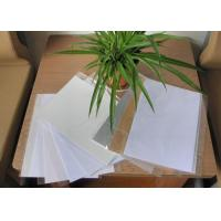 Wholesale 0.15mm white pvc card materials with glue Card making pvc inkjet printing sheet from china suppliers