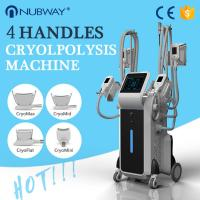 Buy cheap 4 handles coolsculpting cryolipolysis fat freezing slimming system 4 handles work at the same time from wholesalers