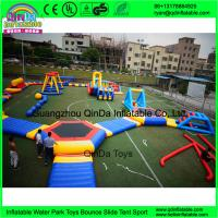 Wholesale New Giant Inflatable Water Park Games With TUV Certificate / Inflatable Wipeout Course For Sale from china suppliers