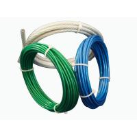 Wholesale Aircraft Vinyl Coated Steel Cable , 7x7 Galvanized Steel Wire Rope For Fall Protection from china suppliers