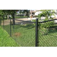Wholesale Green Coated Chain Link Fence Mesh Airport Security / Side Stop Fencing from china suppliers