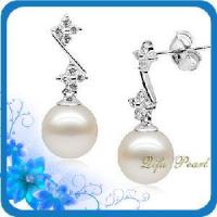 Wholesale Fine Silver Jewelry Earring With Freshwater Pearl and CZ (HE80349) from china suppliers