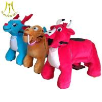 Wholesale Hansel fair attractions children electric motorized plush riding animals from china suppliers