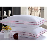 Wholesale Microfiber Filling White Hotel Comfort Pillows 100% Cotton Fabric Material from china suppliers