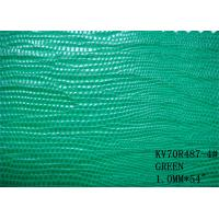 Wholesale embossed crocodile pu leather with woven backing for bags from china suppliers