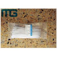 Wholesale White Cable Ties Free Sample , Self Locking Reusable Tie Wraps With Length Customized from china suppliers