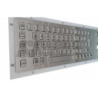 Wholesale Silver Backlit Stainless Steel Keyboards , Compact Illuminated Industrial Keyboard from china suppliers